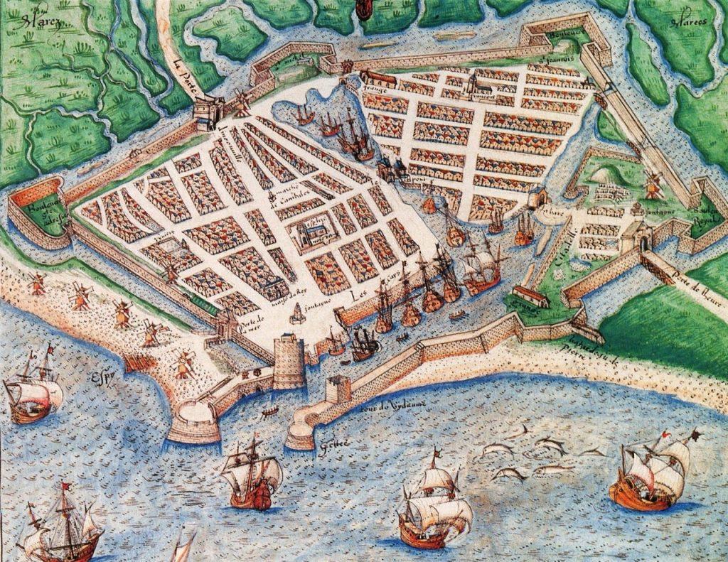 Dessin du Havre au XVIème siècle