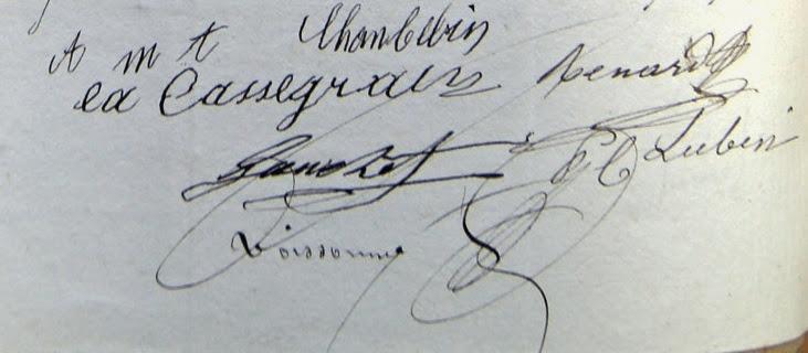 Contrat de mariage Cassegrain-Chambelin