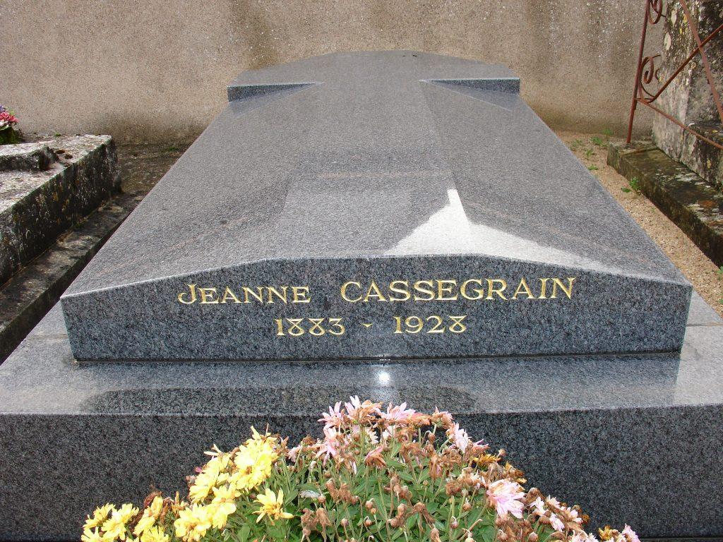 CASSEGRAIN Jeanne - Tombe à Gidy