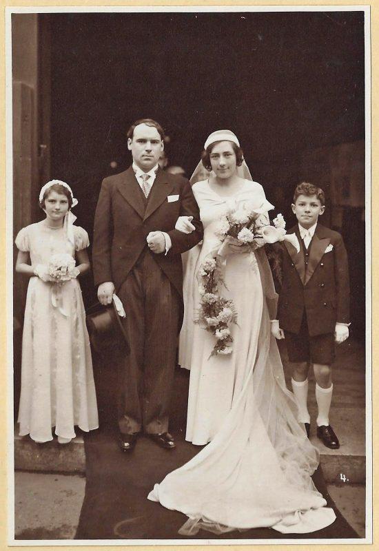 DOMERGUES Simone - Mariage Soulas-Domergues Enfants d'honneur 1933