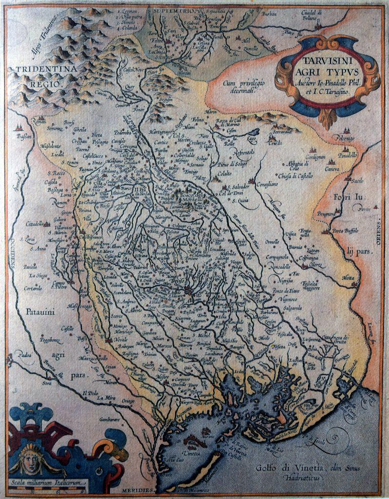 Généalogie Italie - Carte région de Trévise