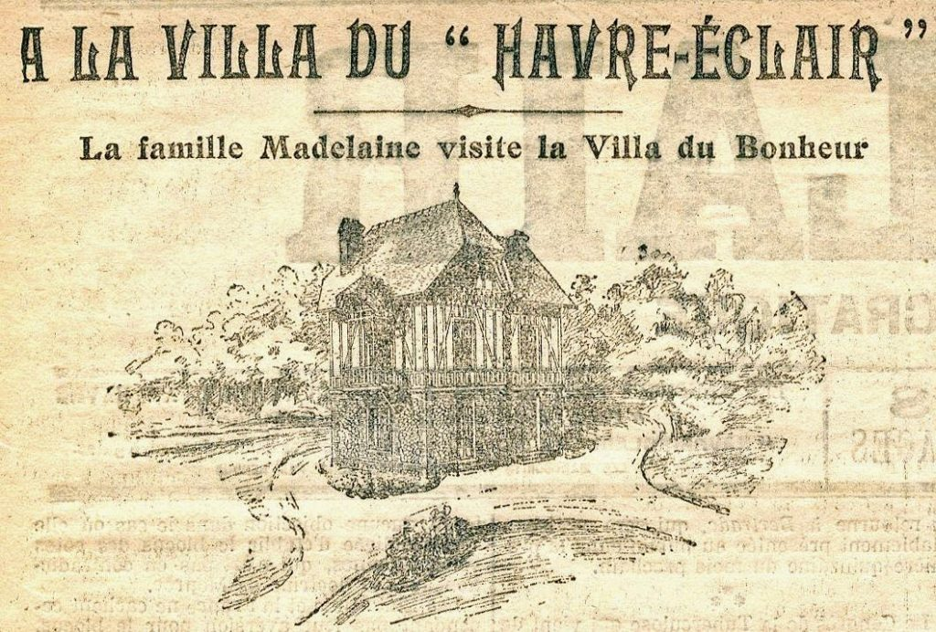 Dessin la Villa du Bonheur 1905
