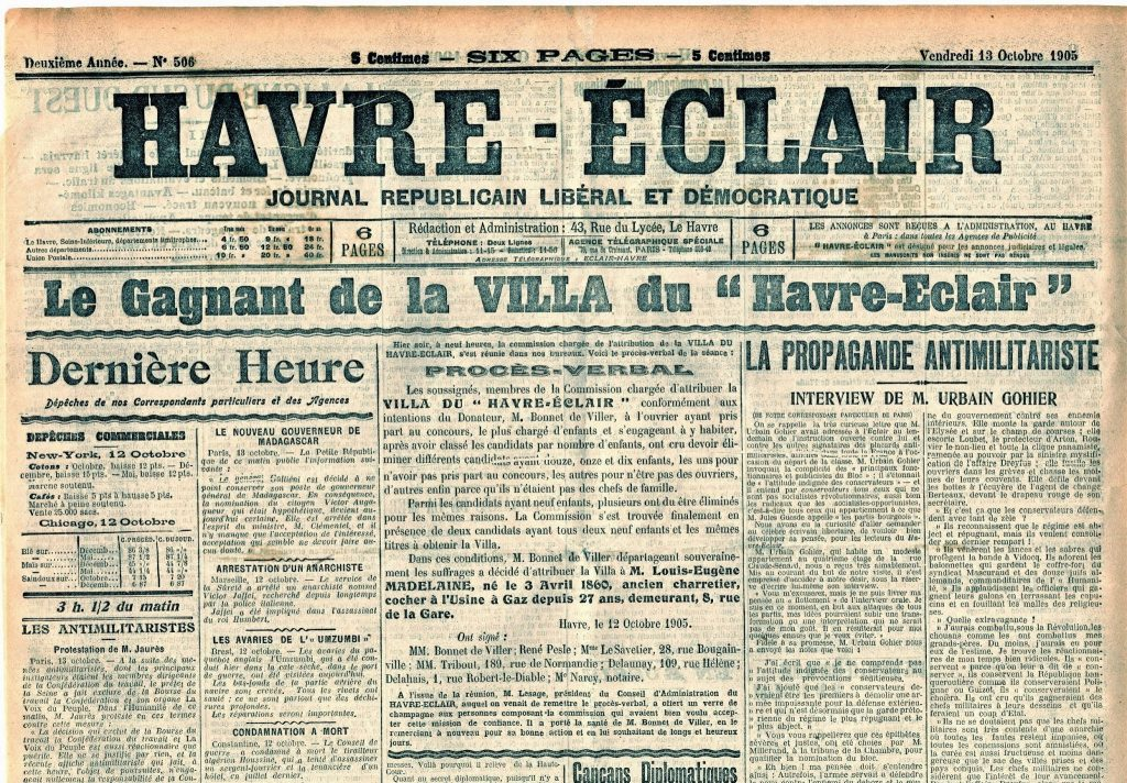 La Villa du Havre-Eclair 1905
