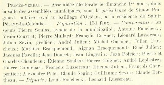 SOULAS Pierre - Extrait Cahier de doléances 1789